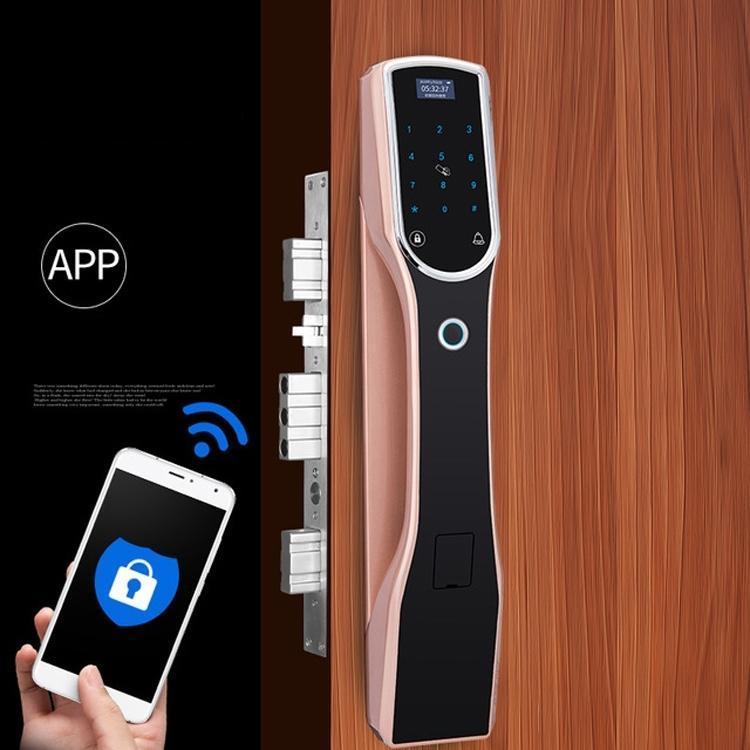 RX0836 قفل بصمات الأصابع التلقائي بالكامل قفل المنزل الذكي فيلا داخلي الإلكترونية رمز القفل