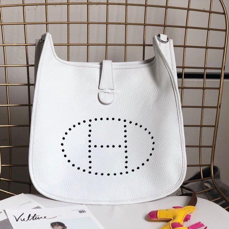 Handtasche Luxus Schultertasche Metall-Hardware Luxus-Mode mit großer Kapazität Leder und Canvas Produktion Mode Evelyne Druck
