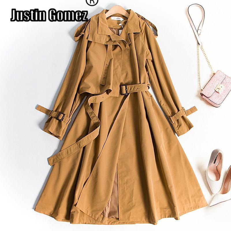 British famoso diseñador de la marca de las nuevas mujeres foso de la capa de lana de pecho botones dobles Abrigos con la correa envío libre