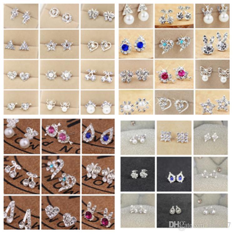 النسخة الكورية من جديد مزاجه الفتيات الأذن وأقراط الماس لؤلؤة القوس الأقراط الجميلة الأقراط بسيطة T2C5014