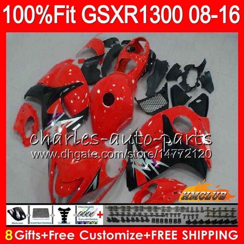 Inyección para SUZUKI Hayabusa GSXR1300 08 2008 2018 GSXR 1300 25NO.65 GSXR-1300 rojo de fábrica 08 09 10 11 12 13 14 15 16 17 18 Carenados OEM