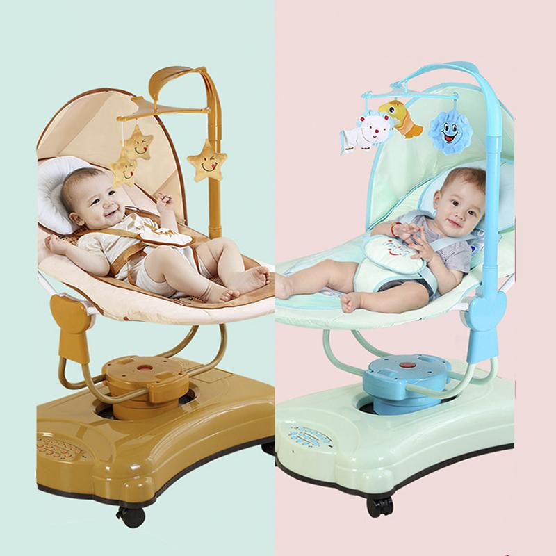 Pleasing 2019 Intelligent Baby Electric Rocking Chair Children Automatic Rocking Shaker With Wheels Easy To Move Electric Chair From Xunqian 294 95 Machost Co Dining Chair Design Ideas Machostcouk