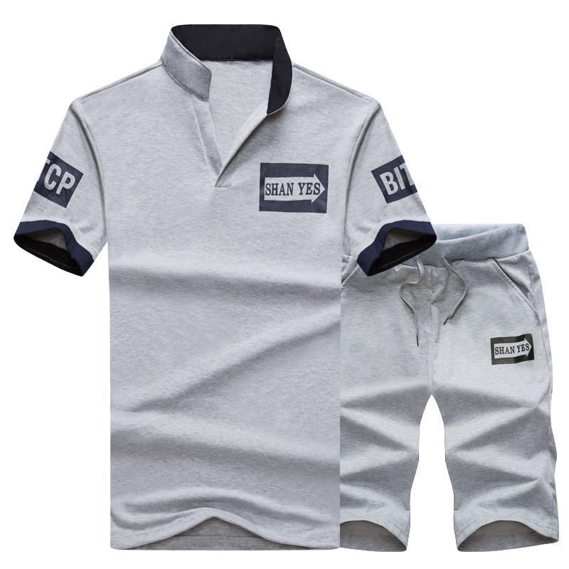 Survêtement Survêtement Hommes 2PC Shorts d'été Marque T-shirt Hommes Lettre Imprimé Sportsuit Set Costume Mode Hommes Top Men Shirt Bonne