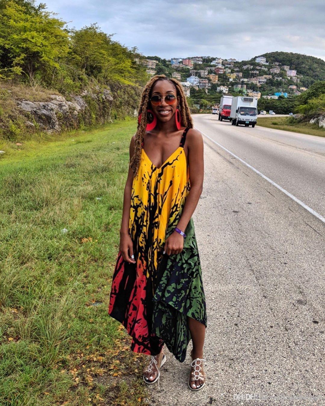 Femmes d'été Designer Tenues col en V manches Sling Femme Robes imprimé floral Style Mode Vêtements décontractés
