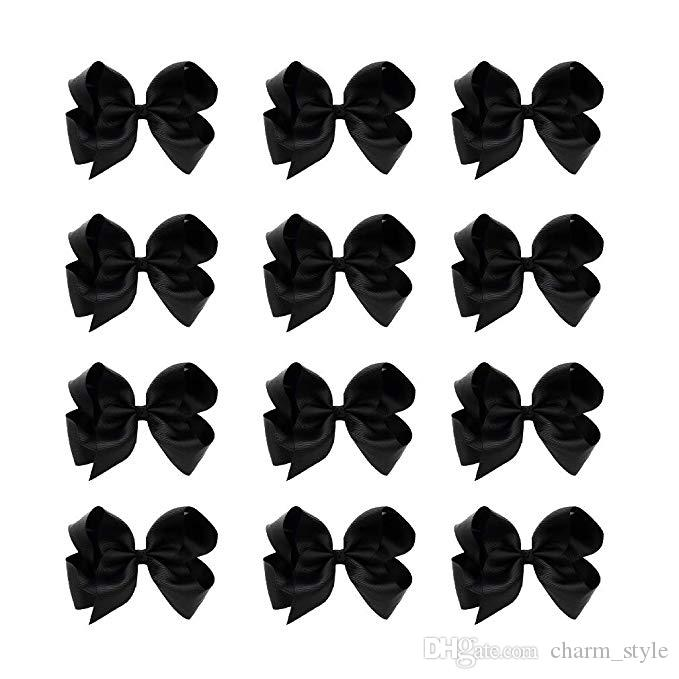 2 Handmade Black /& White Triple Bow Clips for Shoes