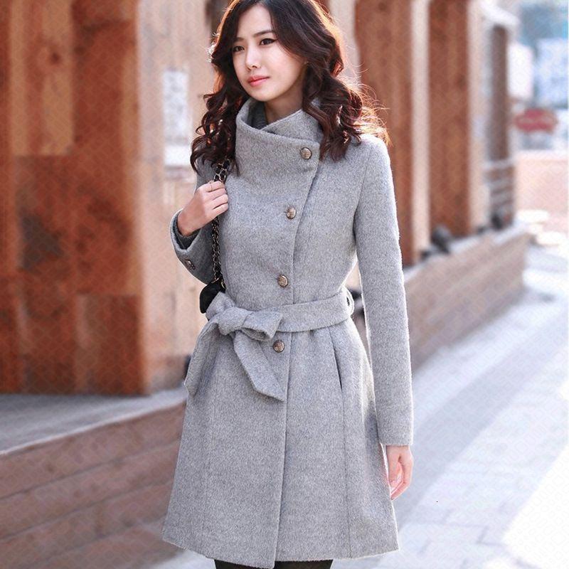 Kadın palto ve ceket Kore ceket uzun uzun ceket uzun boylu deri kadın