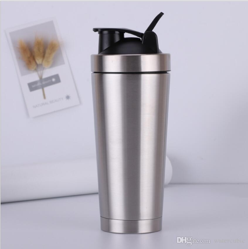 Proteína de acero inoxidable Botella JoyShaker Polvo de proteína de suero de leche Batido de batido Caldera Mezclador Batidor deportivo Botella de agua Ecológica Doble capa