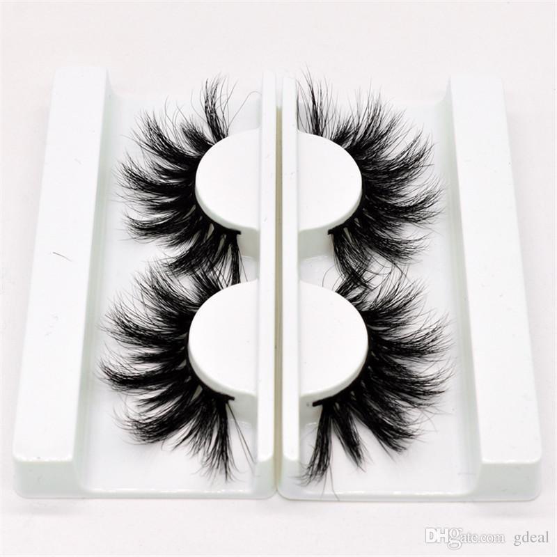 5D 25mm False Eyelashes Large Eyelashes pure handmade false eyelashes soft water mane mink thick and long 10