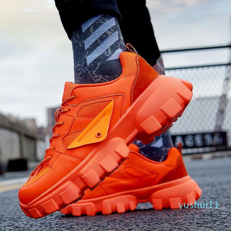 Sıcak Satış-Trend Erkek Kalın Sole Sneakers Erkek Gym Fitness Eğitim Ayakkabı Adam atletik Koşu Açık Koşu Ayakkabı Koşu