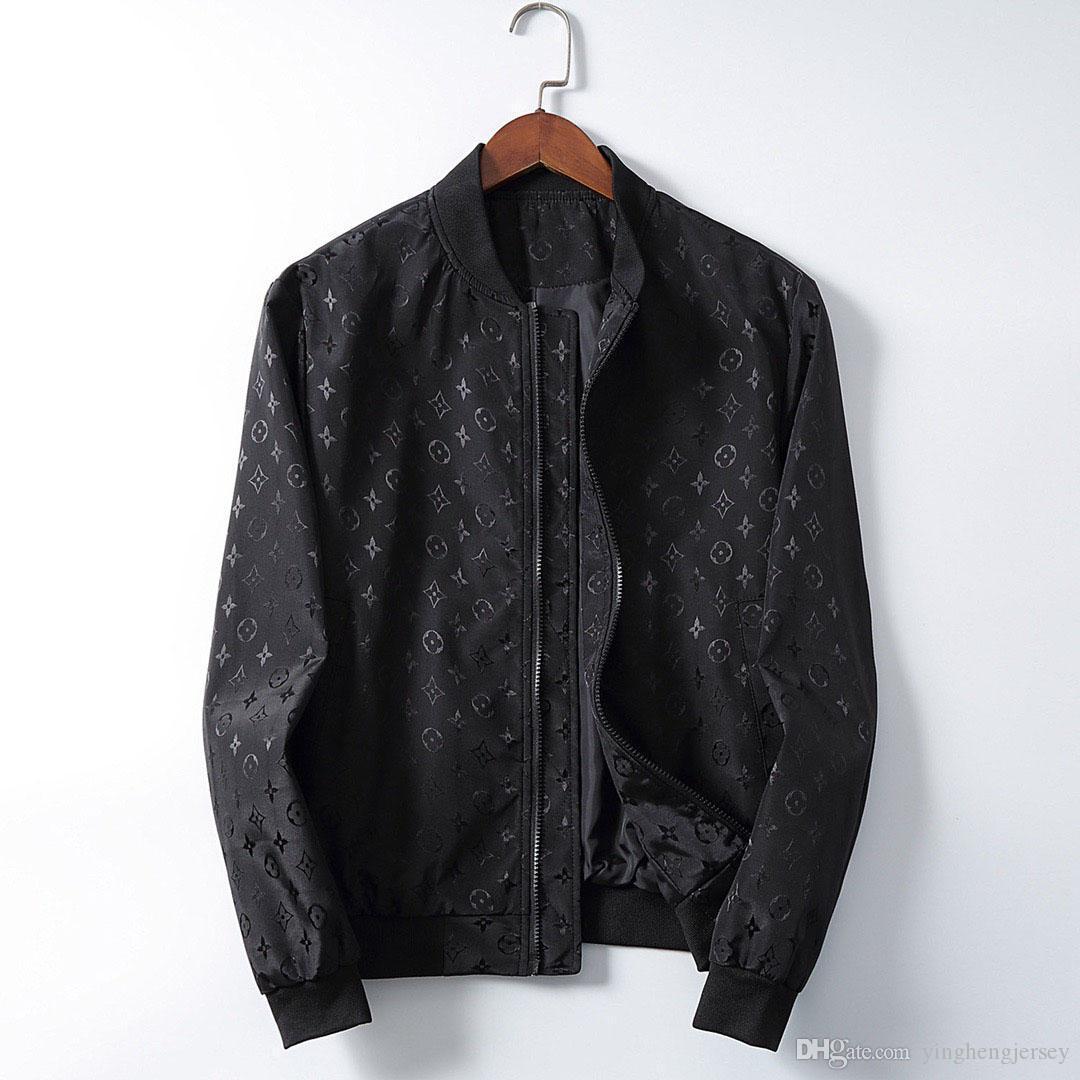 cappotto lungo 2019 New Luxury marchio di moda di strada italiana Mens design Outerwear Coats superiore qualità del colore solido lungo Jacket M-3XL Consegna gratuita