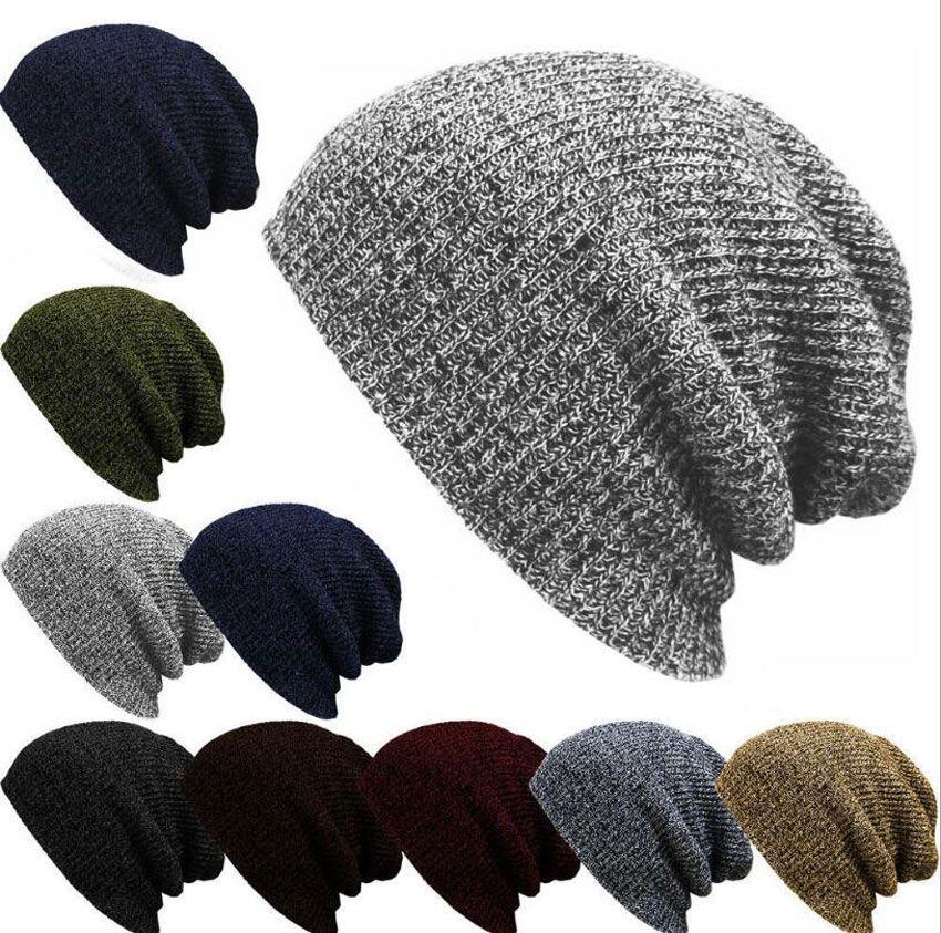 Beanie Hats For Women Men Skullies Winter Cap Mens Slouchy Winter Hats Beanie Caps Male Warm Knitted Skull Cap Bonnet LZ002