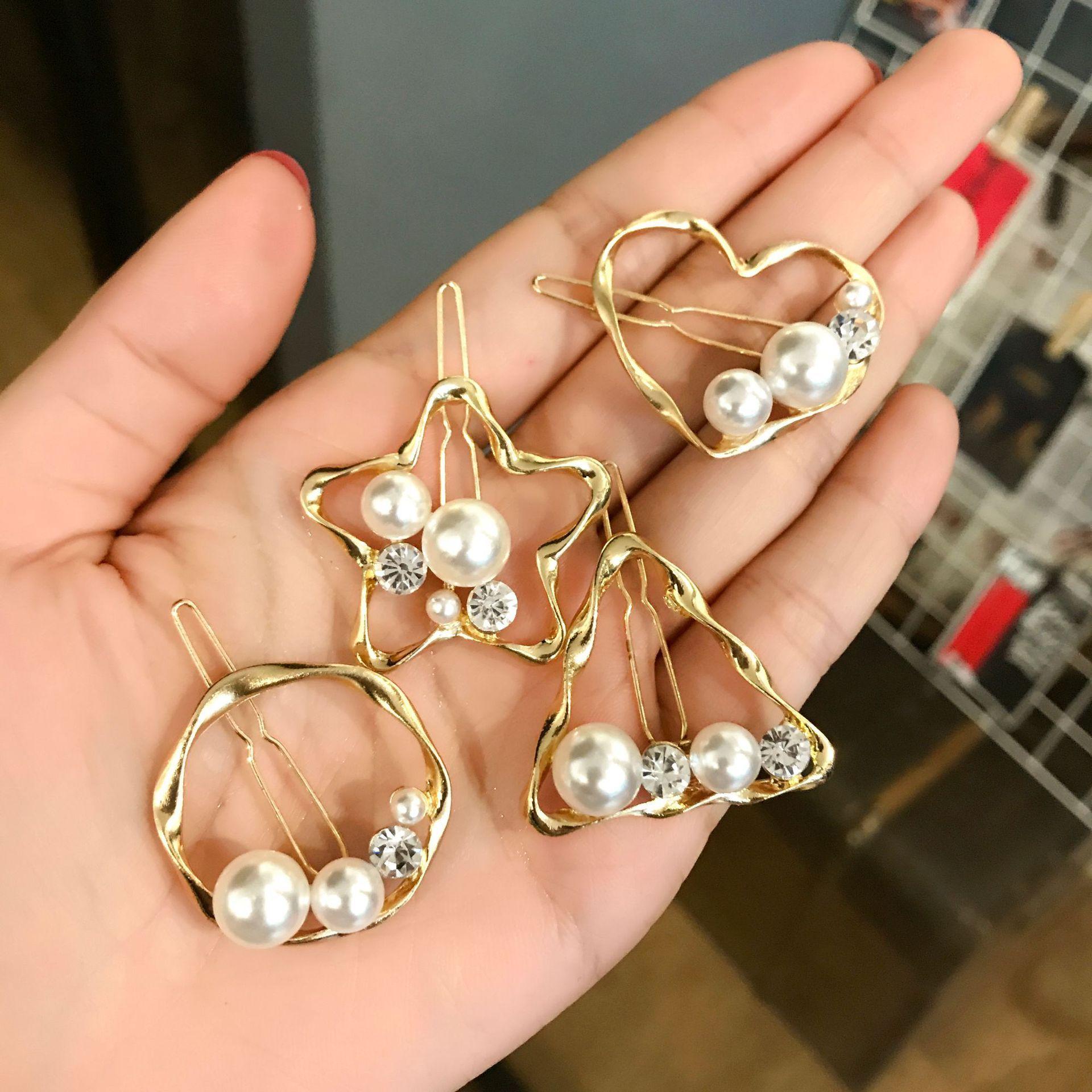 Fête de mariage cadeau perles perles dame femme bijoux en diamants Barrettes en épingle à cheveux Barrettes pour l'obtention du diplôme d'initiation agissant mariée QM-48