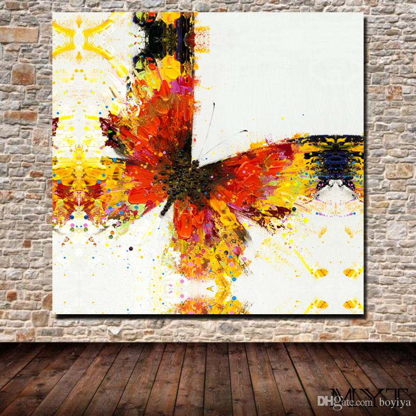 Free shipping HD printed animal color butterfly Wall art Picture Home Decor for Living Room on Canvas Printing Oil Painting no framed