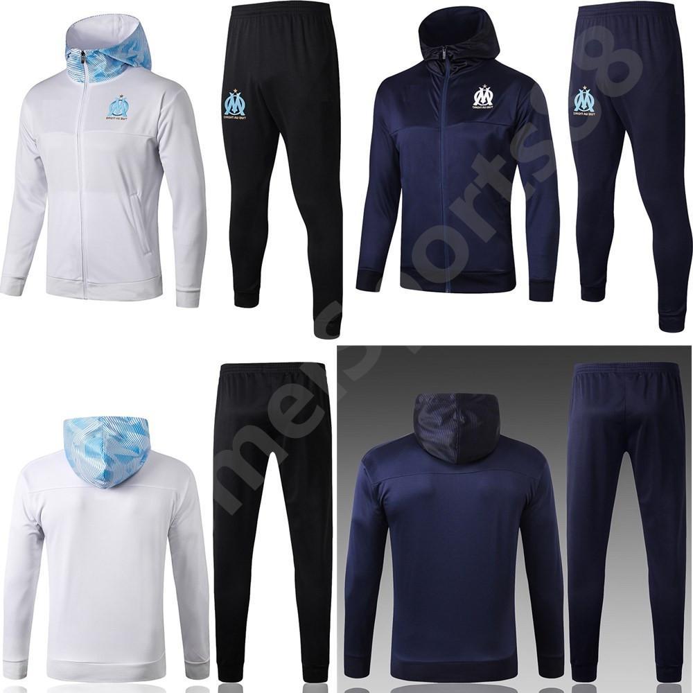 19 20 Olympique de Marseille OM Uomini tuta da calcio tuta maillot de foot PAYET THAUVIN BENEDETTO calcio giacca da jogging uniforme