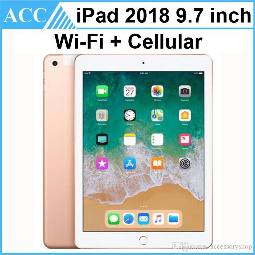 Refurbished Original Apple iPad 2018 9.7 inch 6th Gen WIFI + Cellular A10 Fusion Chip Quad Core 2GB RAM 32GB 128GB ROM Tablet PC DHL 1pcs