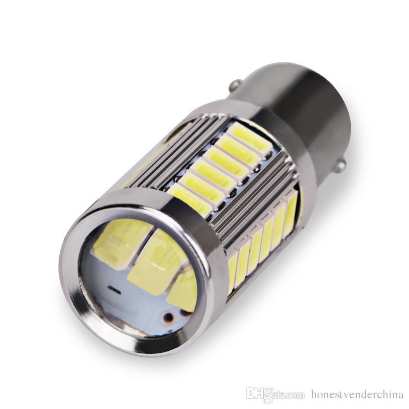 10pcs 12V 1156 BA15S P21W 5630 5730 LED 자동차 꼬리 전구 브레이크 조명 자동 역방향 램프 주간 러닝 라이트 레드 화이트 옐로우