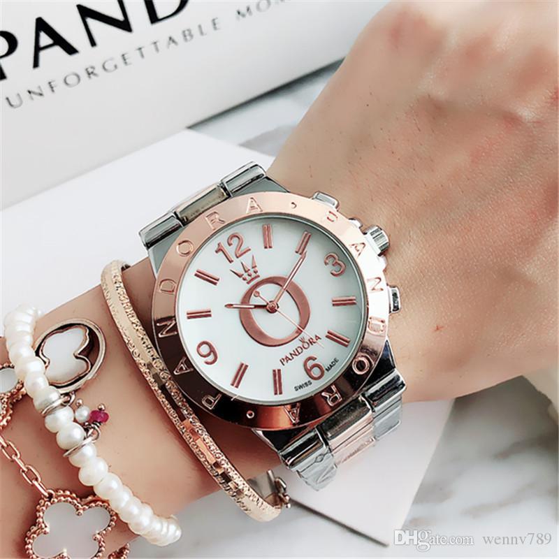 40mm reloj mujer Art und Weise Marken volle Diamant-Uhr Frauen einfache digitale Damen kleiden Luxuxentwerfer Damenuhren Armband Rose Gold Uhr