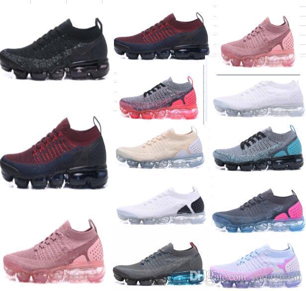 2018 النساء القادمين الجدد الرجال الكلاسيكية تشغيل 2.0 أحذية تشغيل أسود أبيض الرياضة صدمة الركض المشي المشي لمسافات طويلة أحذية V2 عارضة حجم 36-45
