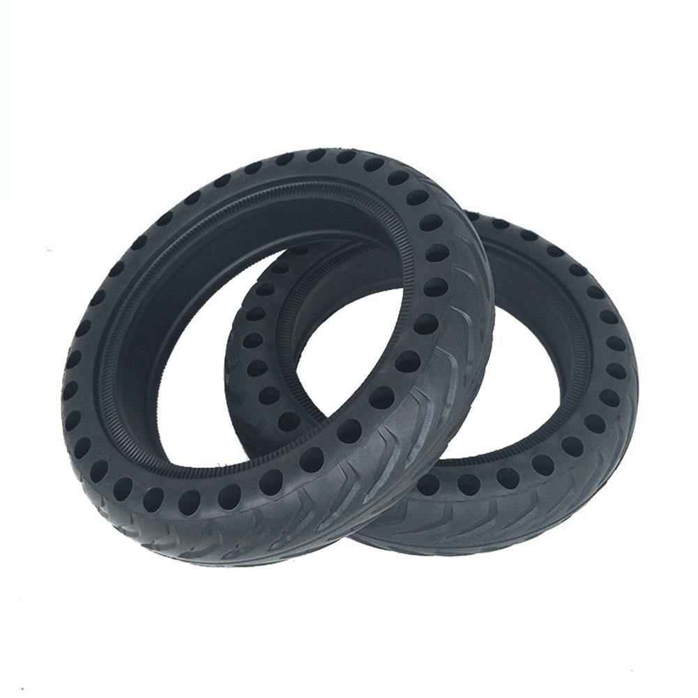 Sólido pneu de substituição de borracha preta à prova de choque Parts Roda Durable pneu não insuflável 8,5 polegadas para M365 Scooter elétrico