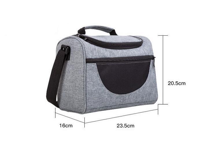 Las diseñador nuevo aislamiento bolsas de picnic al aire libre de la bolsa de material aislante con correa de hombro de alta capacidad de largo que sostiene logotipo personalizado vez