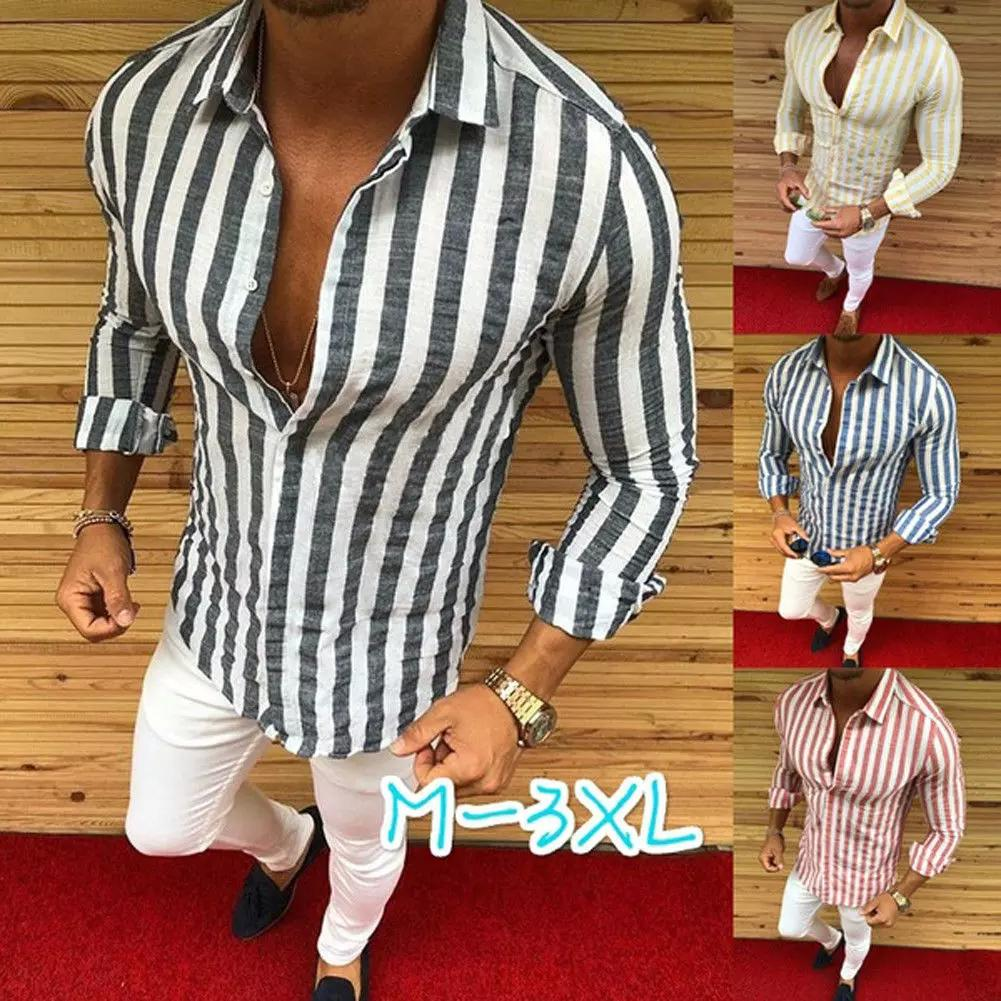 Fit Shirt Fashion-l shirt Homens listrados designer vestido Casual Luxury shirt regulares