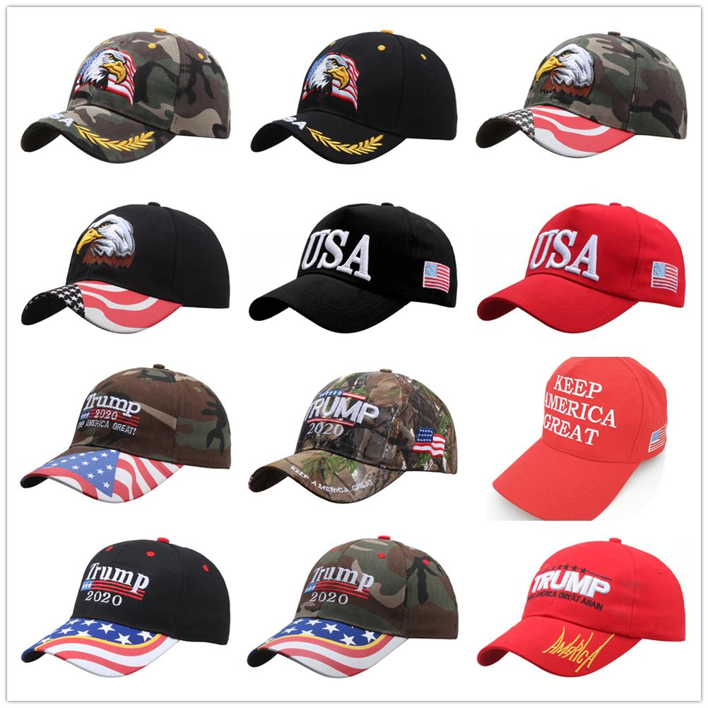 2020 USA Election hats Donal Trump baseball cap hat keep make America Great Trump caps embroidered cotton casquette customizable trump