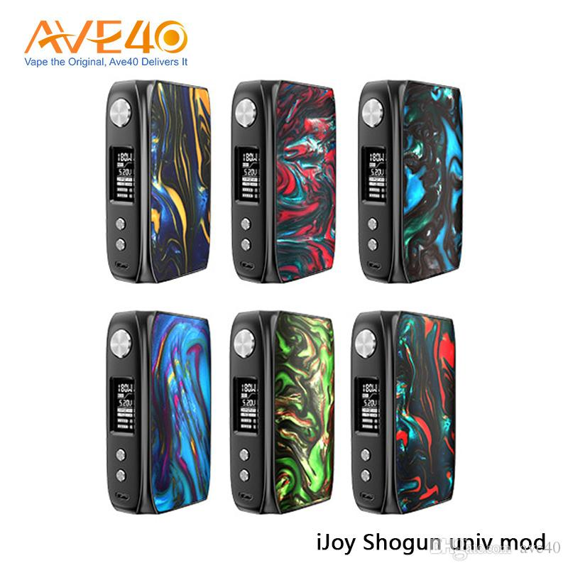 Authentic iJoy Shogun Univ Mod 180W Powered By dupla 18650 Bateria Built-in Mod Resina UNIV Chipset Double-Sided