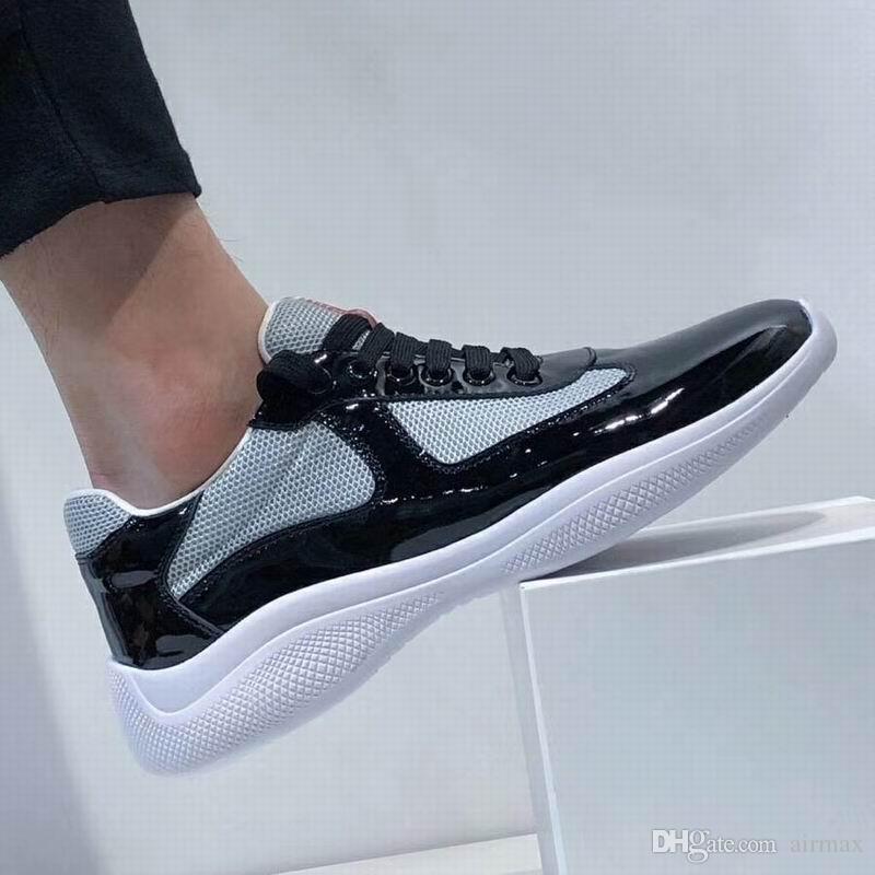 Italien New Mens Rouge Confort Casual Chaussures Designer Britannique Homme Loisirs Chaussures En Cuir Verni Brillant avec Mesh Respirant Chaussures Zapatos 38-45