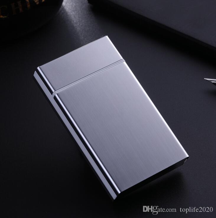 2020 Новые поступления Женщины Fine портсигар 20 Пакет удлиненный выпуск Ультратонкий Творческий алюминиевого сплава Auto Cap портсигар Customized