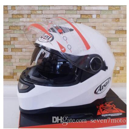 Double visor motorcycle helmet New Genuine full face helmet warm Casco High Quality Motorbike capacete white helmet