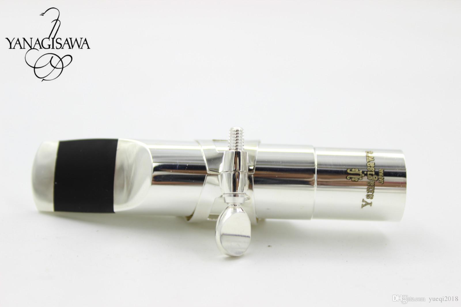 عالية الجودة جديد ياناجيساوا ألتو تينور سوبرانو ساكسفون المعادن المعبرة الحجم 5 6 7 8 9 الفضة مطلي ساكس فوهة الآلات الملحقات