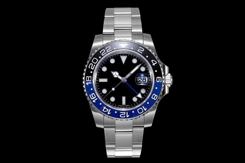 N Luxury Watch 40x13mm 3186 Автоматическое механическое движение Часы 904L стальные роскоши мужские часы Часы Montres de luxe