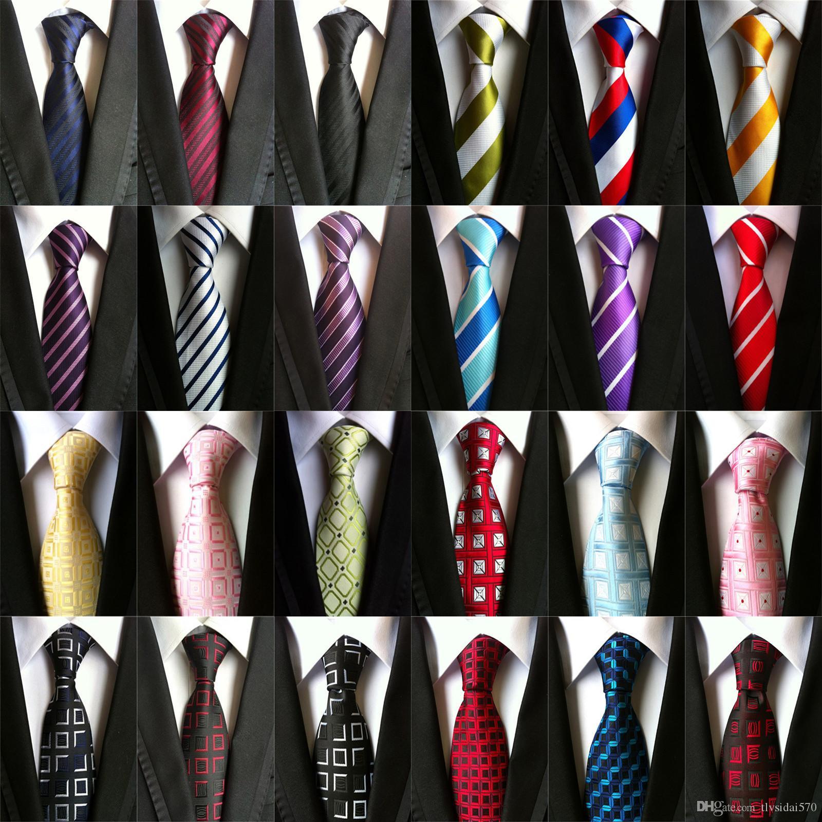 CityRaider Новый Полосатый Пледы Paisley цветочным узором Серебро Красный Синий Фиолетовый Шелковые галстуки для мужчин Тонкий галстука для венчания Бизнес партии A030