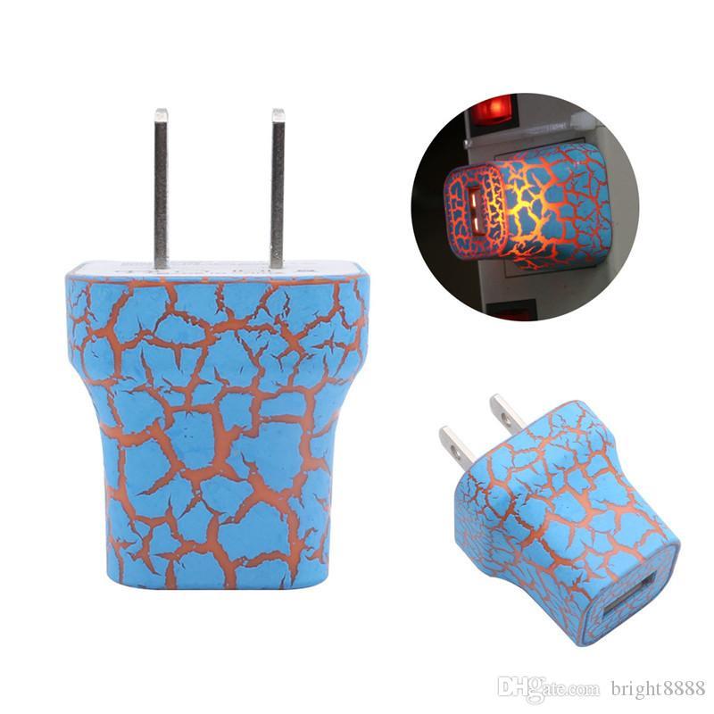 Led renkli ışık 5V1A tek port USB renk çatlak şarj