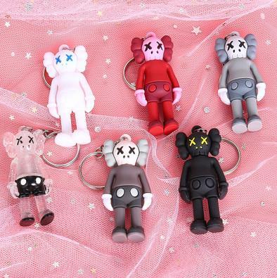 Kaws Designer-Puppe Keychain für Taschen Trendy Sesame Street Accessoties Spielzeug für Jungen Mini Handgefertigte für Hobby Collector Bag Ornament 9 Styles