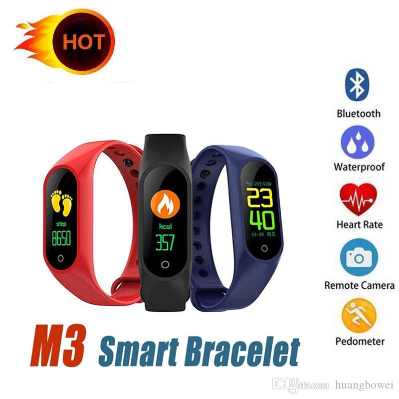 M3 Smart Bracelet smart watch Heart Rate Monitor bluetooth Smartband Health Fitness Smart Band for Android iOS activity tracker DHL ship
