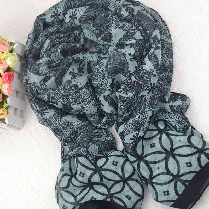 New Exotic Style Headscarf Sunscreen Shawl Export Export Cashew Fruit Printed Scarf Multi-purpose Cotton and Linen Scarf