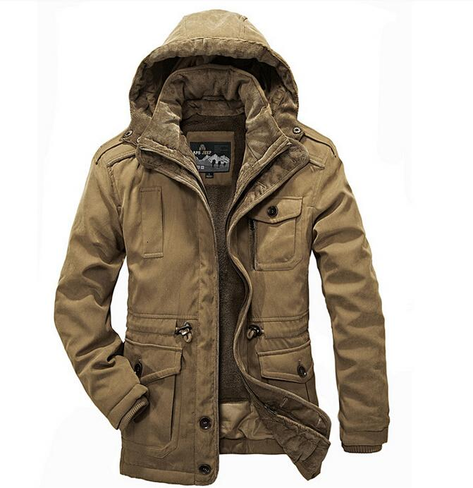Outdoor -30 Degree Winter Coat Jackets New Plus Size Thick Coats Military Vintage Mens Clothing Two-piecs cotton hiking clothing T191013