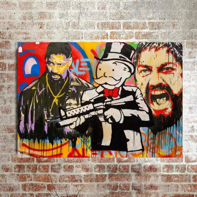 Alec Monopoly Denzel Monopoly Home Decor Handpainted &HD Print Oil Painting On Canvas Wall Art Canvas Pictures 200519