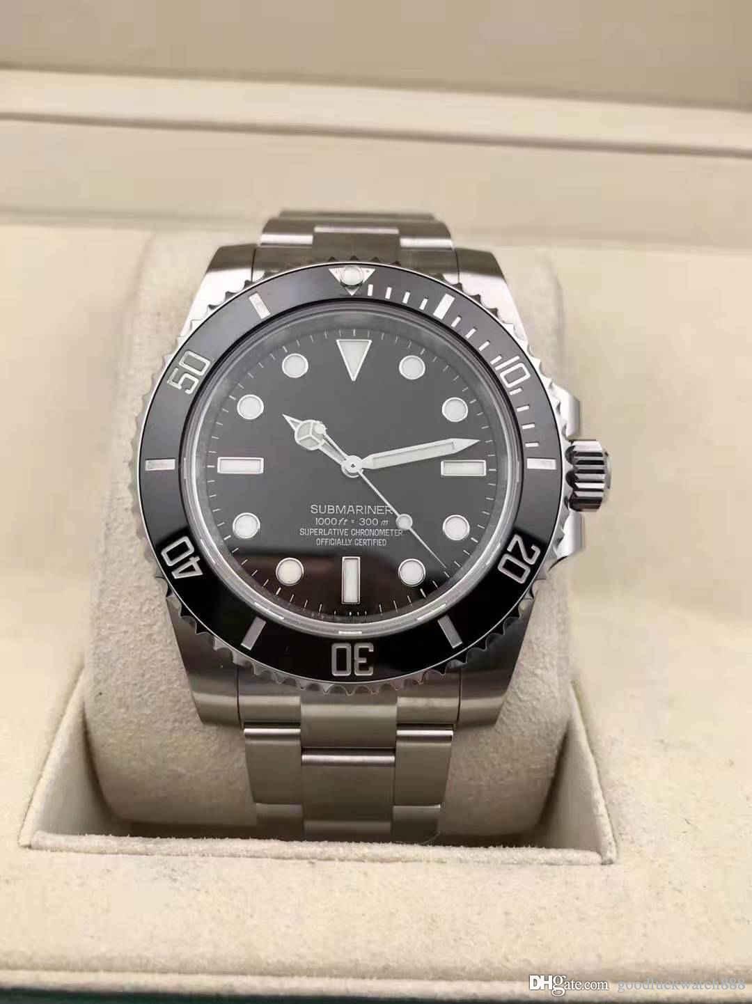 2019 Designer série sous-marine de montre montre 114060 40mm montre de luxe des hommes mécanique automatique en acier inoxydable