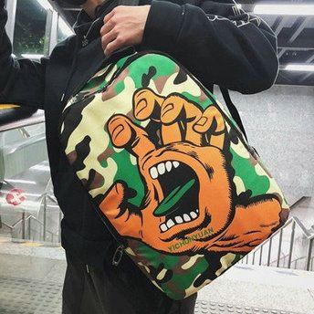 Santa Cruz sırt çantası El ağız daypack hip hop okul çantası Sokak moda baskı sırt çantası Spor okul çantası Açık gün paketi