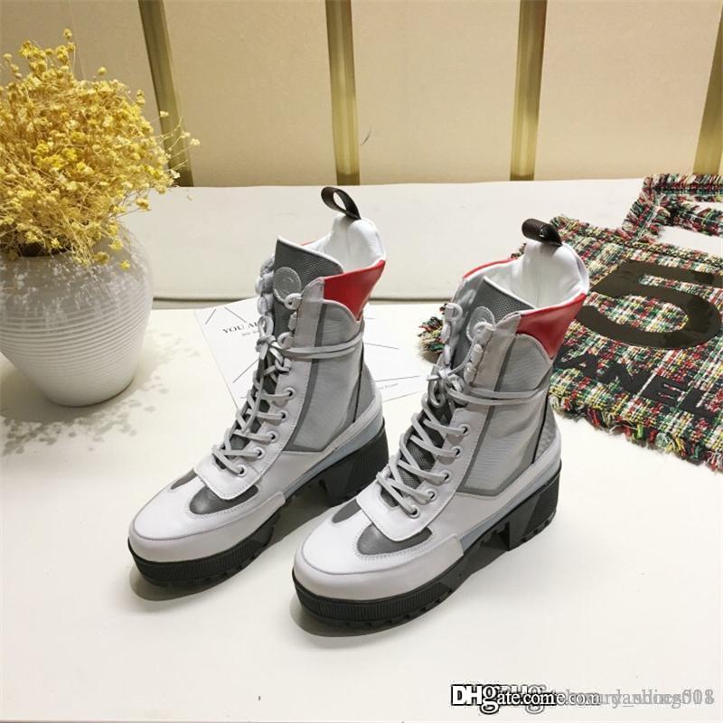 Designer Shoes LAUREATE PIATTAFORMA Desert Boot 2019 pattini delle donne di modo di marca di lusso del progettista globali di vendita calda Scarpe alti stivali con la scatola