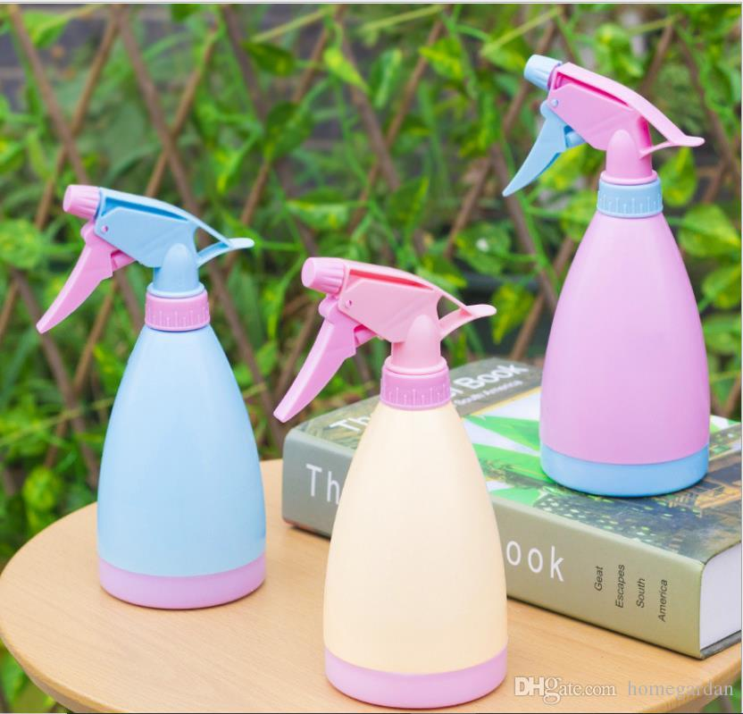 Watering can pneumatic small candy color irrigation tool Household watering can hand pressure watering pot green plant material