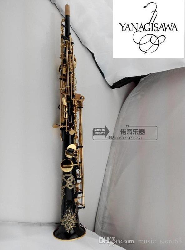 ياناجيساوا S-992 على التوالي سوبرانو ساكسفون الأسود النحاس ب ب موسيقى صك تعزيز المهنية مع لسان الحال. قصب