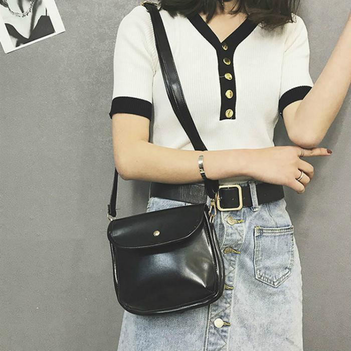 La nueva moda 2020 bolsos populares versátil de alta calidad retro diagonal bolsa impermeable bolsa de mensajero de las mujeres de un solo hombro cruz
