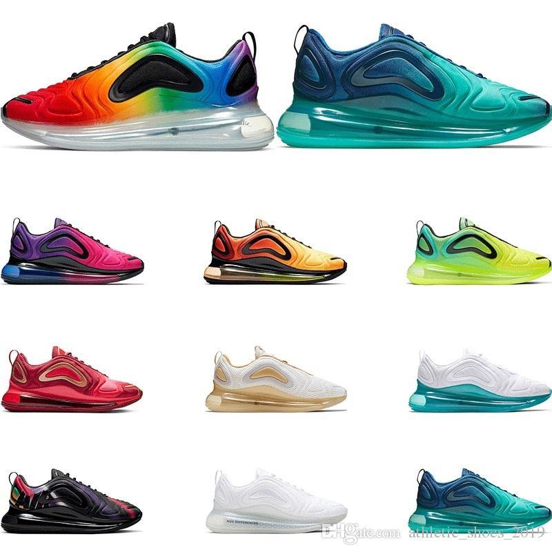 nike air max 720 Chaussures de course de qualité supérieure pour hommes University Pride TEAM-CRIMSON triple blanc noir Northern Lights femmes baskets de sport taille 36-45