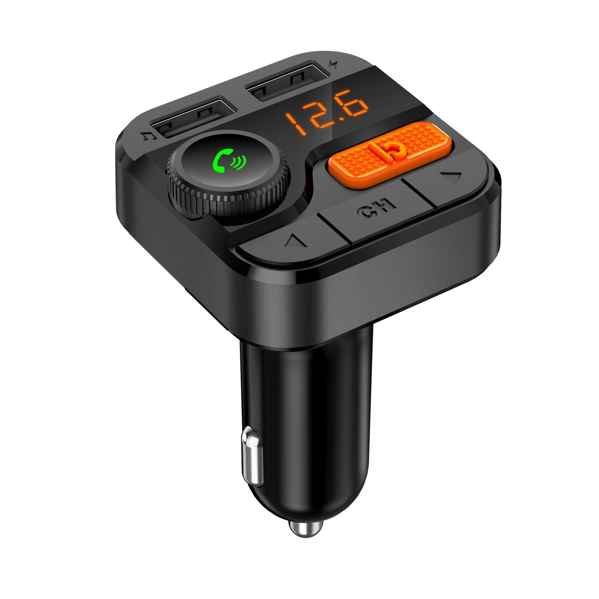 BT82D Wireless 5.0 Car FM Transmitter Bluetooth FM Modulator Phone Car Charge TF MP3 Player Car Accessories Hands-Free
