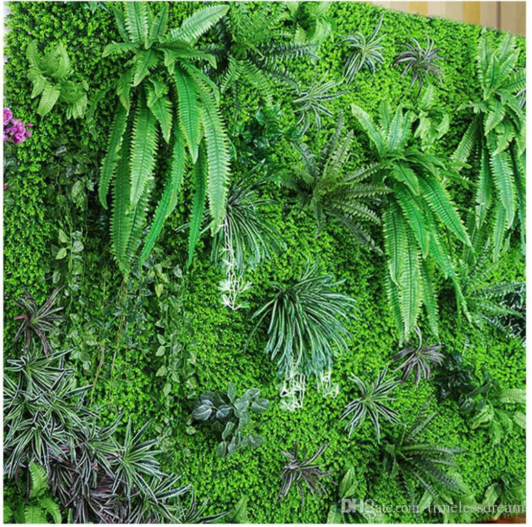 Environment artificial lawn artificial turf simulation plant wall lawn outdoor ivy fence bush plant walls for home garden wall decoration