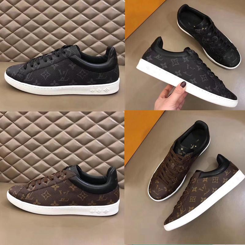 Louis Vuitton 2019 neue Art und Weise hohe Qualität l Senior Freizeit handgemachte Männer Sportschuh schwarz und braun Größe 38 ~ 45 xshfbcl Freies Verschiffen