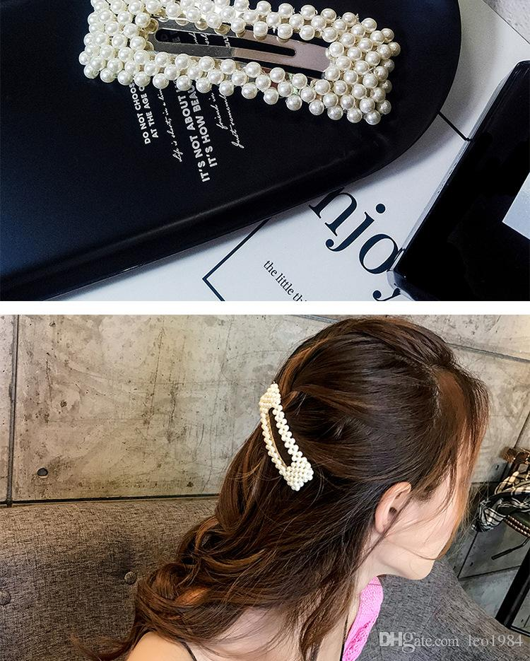 Sweet Temperament Matchs Web Celebrity Dream Fairy Pearl Hairpin Edge Clip Contracted Individual Character Matchs Adult Headdress